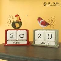 Wood Creative Calendar DIY Calendar Perpetual Calendar