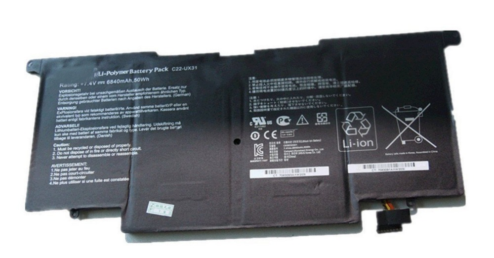 все цены на 50Wh C22-UX31 Battery for Asus ZenBook UX31 UX31A UX31E Ultrabook Laptop C23-UX31 онлайн
