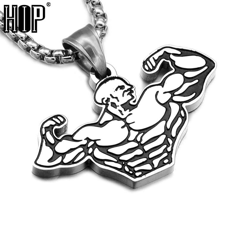 HIP Gold Color Titanium Stainless Steel Muscle Sports Gym Fitness