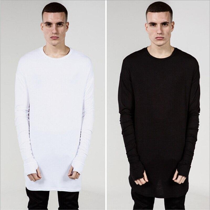 New Hip hop street T-shirt fashion brand t shirt men solid long sleeve oversize design hold hand T Shirts Men Cotton Tee Shirt
