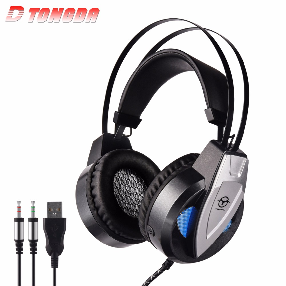 M3 Wired Gaming Headset Deep Bass Game Earphone Computer headphones with microphone led light headphones for computer pc