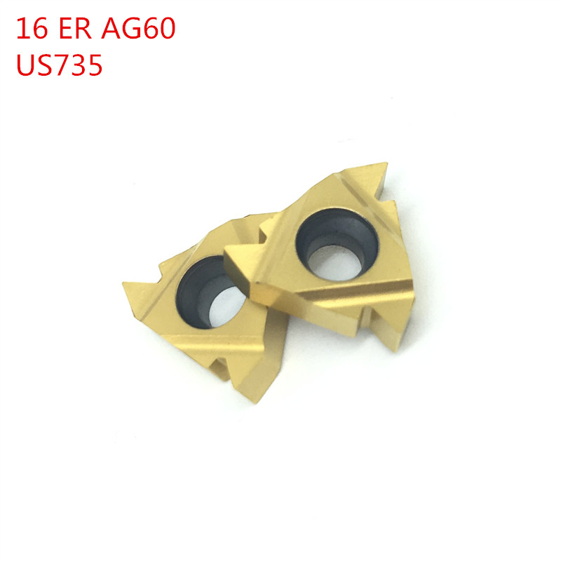SWIS 100pcs 16ER AG60 US735 Thread Turning Tools  Carbide inserts Cutting Tool CNC Tools Lathe cutter tools 16ERAG60SWIS 100pcs 16ER AG60 US735 Thread Turning Tools  Carbide inserts Cutting Tool CNC Tools Lathe cutter tools 16ERAG60
