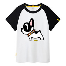 Summer Plus Size Women Cotton T Shirt 2017 New Casual Dog Print Women's T-shirts Short Sleeve Loose Top Tee Shirt Female C95