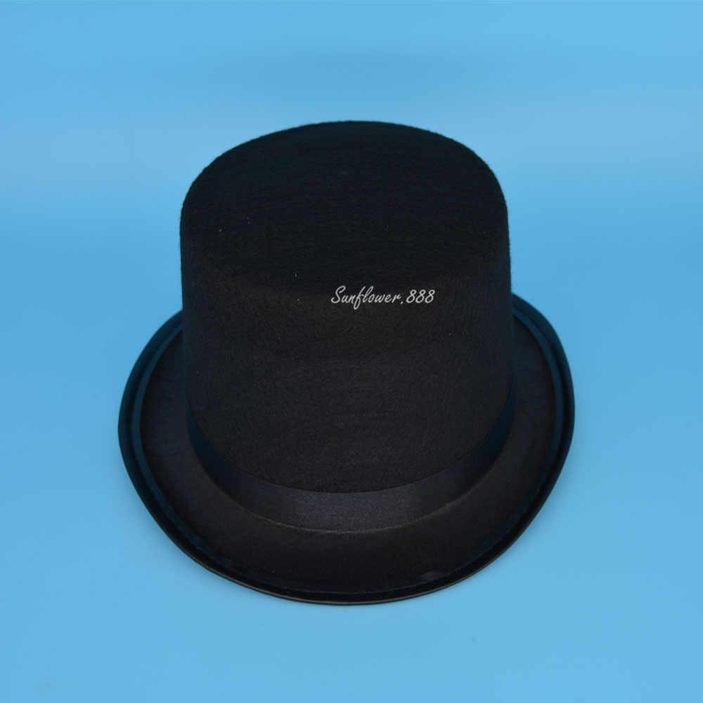104deffebbe078 Black Boy Girls Children Magician Circus Top Hat Fancy Dress Performance Hats  Caps Cosplay Props Party