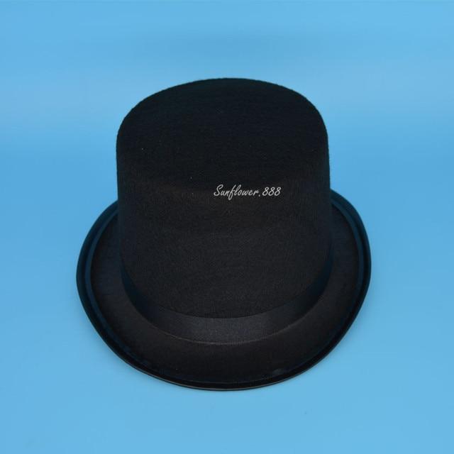 Black Boy Girls Children Magician Circus Top Hat Fancy Dress Performance Hats  Caps Cosplay Props Party Halloween Christmas c63fcb95929f