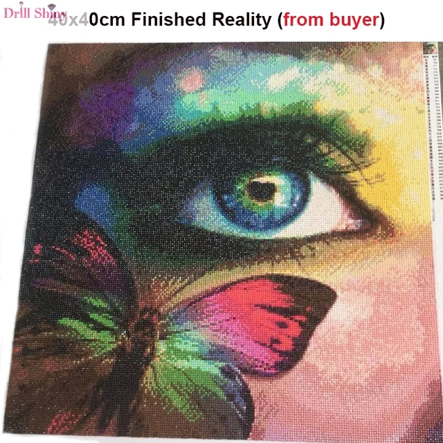 Drill Shiny 3d Diy Diamond Painting Colorful Butterfly On