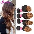 Ombre Brazilian Hair Loose Wave Rosa Hair Products 8A Brazilain Loose Wave Tow Tone T1B/27 Cheap Brazilian Virgin Hair 4 Bundles