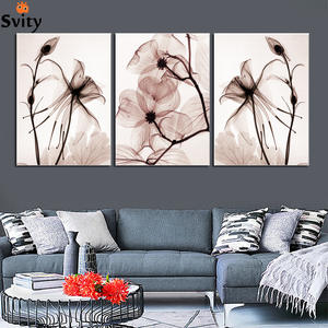 SVITY Flower Canvas Painting Nordic Painting Flower Pictures Wall Art Decor Poster For Living Room Kitchen No Frame Painting