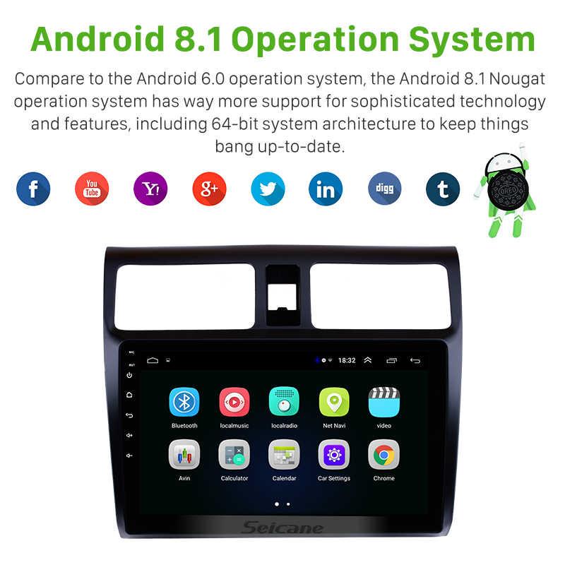 "Seicane سيارة ستيريو GPS والملاحة مشغل وسائط متعددة ل 2005 2006 2007 2008 2009 2010 سوزوكي سويفت 10.1 ""الروبوت 8.1 رئيس وحدة"