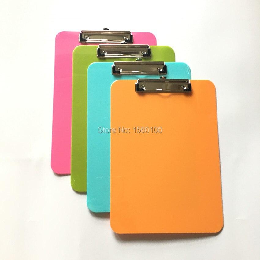 Acheter multicolore a4 en plastique clip conseil portable fichier presse papiers - Presse papier open office ...