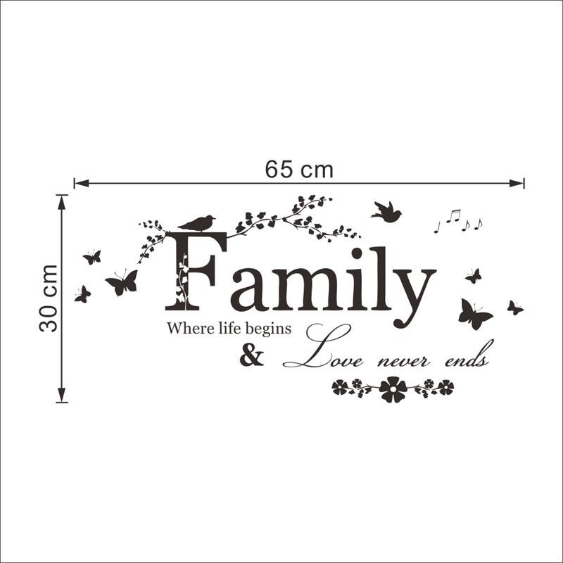 love family quotes wall stickers decorations8346 diy home decals vinyl art room mural posters adesivos de paredes