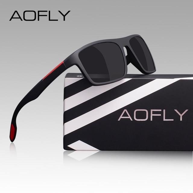 AOFLY DESIGN Ultralight TR90 Polarized Sunglasses Men Driver Shades Male Vintage Sun Glasses For Men Spuare Eyewear Gafas De Sol 10