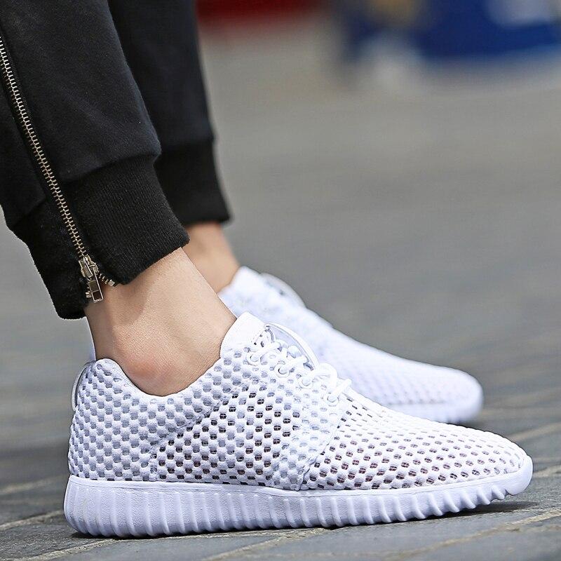 Black Printemps white Deportiva Zapatos Hommes Sport Décontractées Formateurs Chaussures Air Respirant Hombre Décontracté De Maille Marche Pour EqnZwwaUx