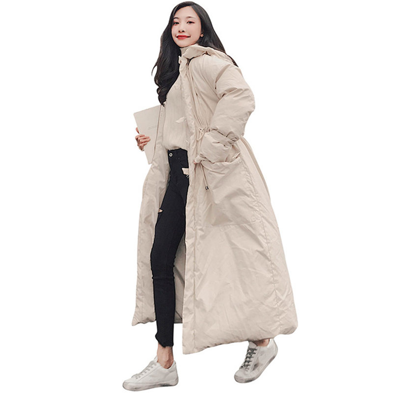 Winter Coat Women Parka Jacket Warm Hooded Large Size Long Jacket Thicken Outerwear Long Sleeve Jacket Coat Casaco Feminino Q717