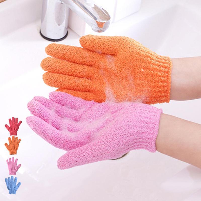 Body Sponge Scrub Exfoliating Bath Gloves Shower gloves Exfoliating Wash Massage Body random color A6