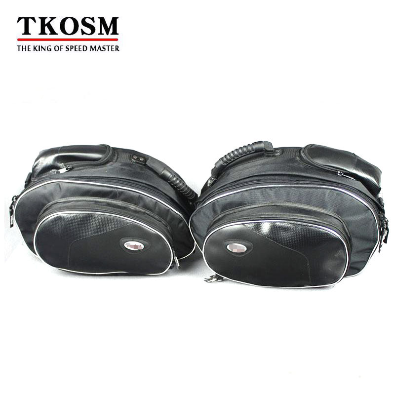 TKOSM 1 Set Genuine Motorcycle Tank Bag Side Luggage Motorcycle Waterproof Saddlebags Alforjas Motor Backpack
