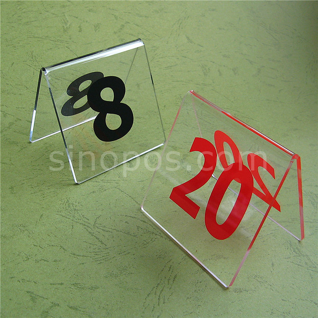 Online Shop Acrylic Table Number Signs Desk Top Clear Plastic - Restaurant table top sign holders