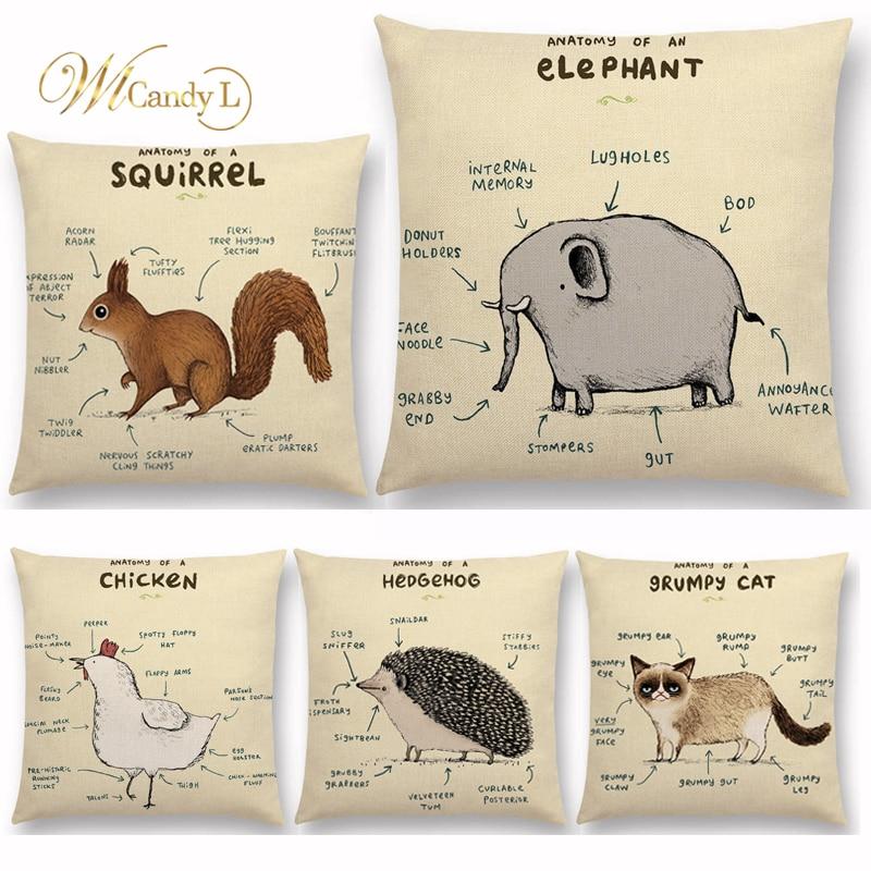WL Candy L New Animals Anatomy Cushion Covers Flamingo Fox Wedding ...