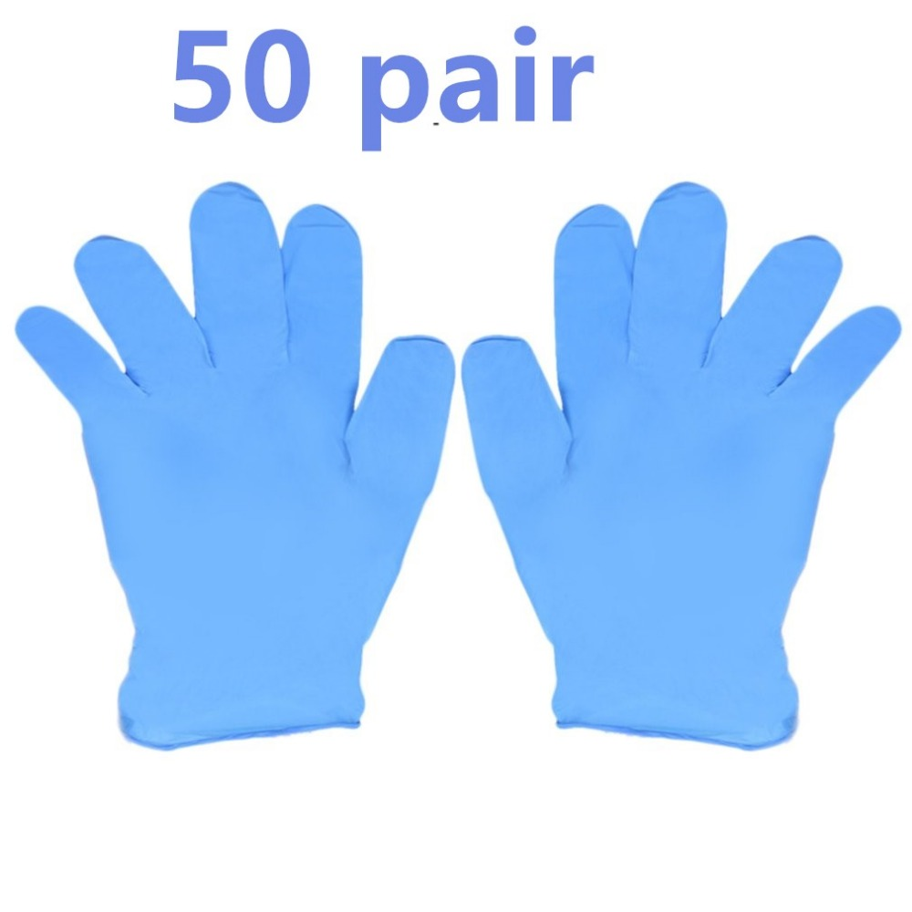 100pcs/box Blue Nitrile Disposable luvas Gloves Wear Resistance Chemical Laboratory Electronics Food Medical Testing Work Gloves 3 sizes high quality 100pcs a lot extra strong medical purple powder free nitrile disposable gloves click butyronitrile color