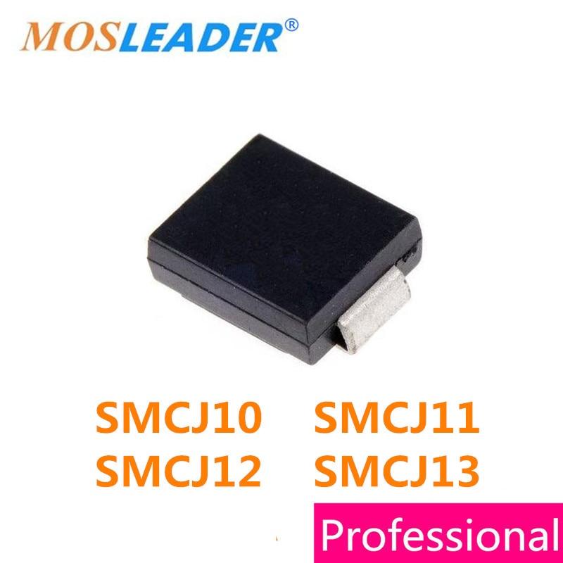 Mosleader 850 шт SMC DO214AB SMCJ10 SMCJ11 SMCJ12 SMCJ13 SMCJ10A SMCJ11A SMCJ12A SMCJ13A SMCJ10CA SMCJ11CA SMCJ12CA SMCJ13CA