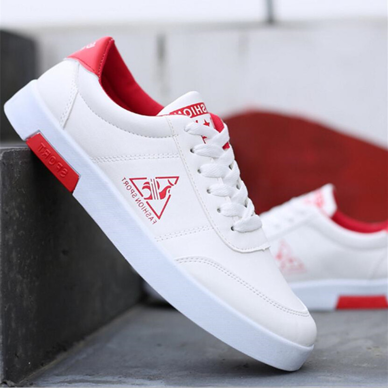 2019 Ot Men's Shoes Sneaker New Small White Shoes Men's Black And White PU Casual Shoes Wild Fashion Classic Men's Shoes