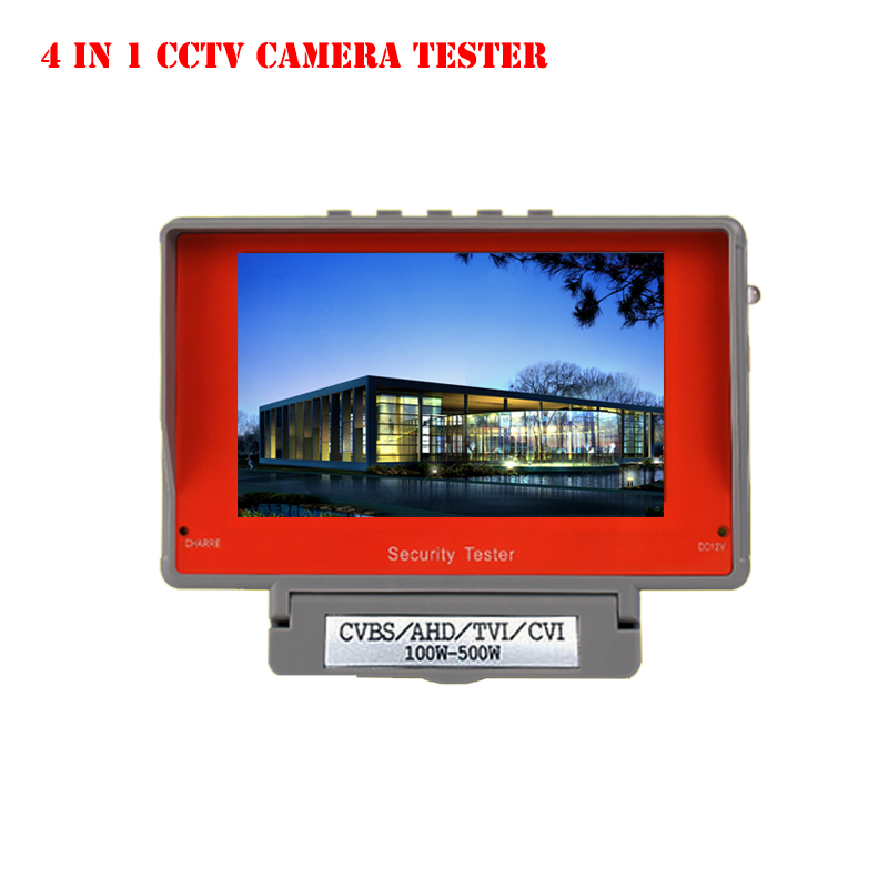 4 IN 1 Portable Wrist 4.3 LCD HD CVBS/AHD/TVI/CVI CCTV Camera Test Display Monitor Tester 5V/12V Power Output,Cable Test free shipping portable 3 5 lcd hd ahd cvi tvi sdi camera tester monitor cvbs test ptz control