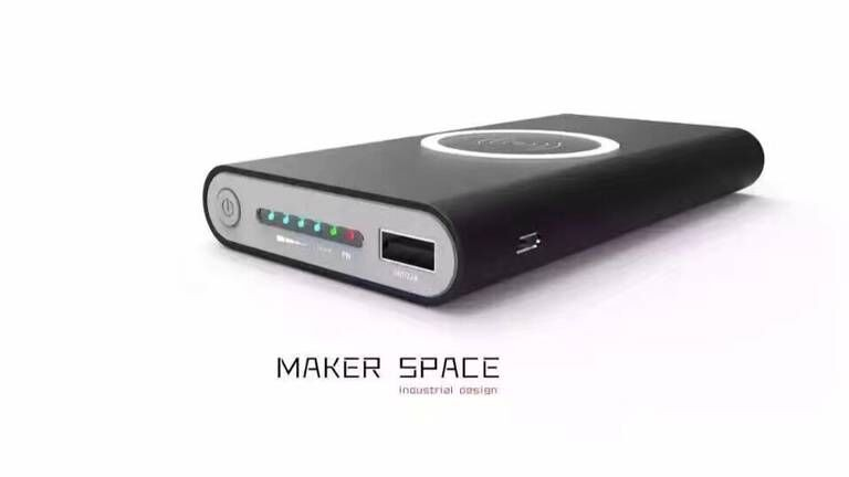 Linyadanzhou 10000 mAh Qi Cargador Inalámbrico Banco de la Energía del USB Bater