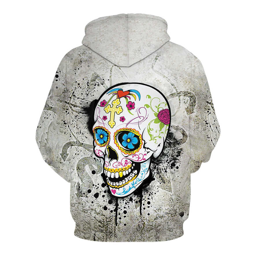 Gorący czarny 3d czaszki bluzy mężczyźni kobiety moda zima wiosna sportowej Hip Hop marki dres z kapturem bluza 2018