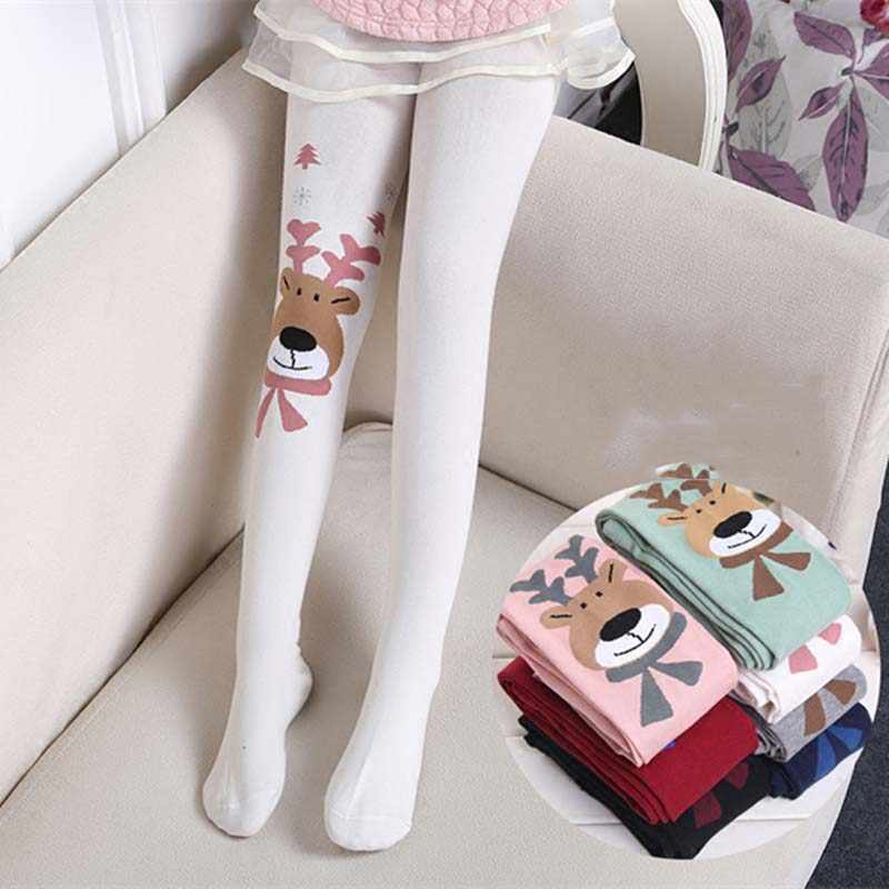 Spring Cotton Girl Tights Children Kids Pantyhose Princess Ballet Girl Stockings 4-10T