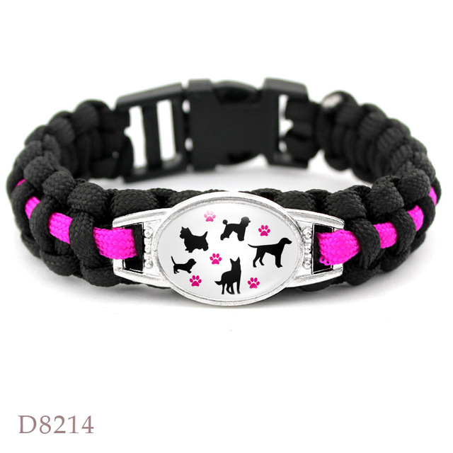Dog mom paracord bracelets 2