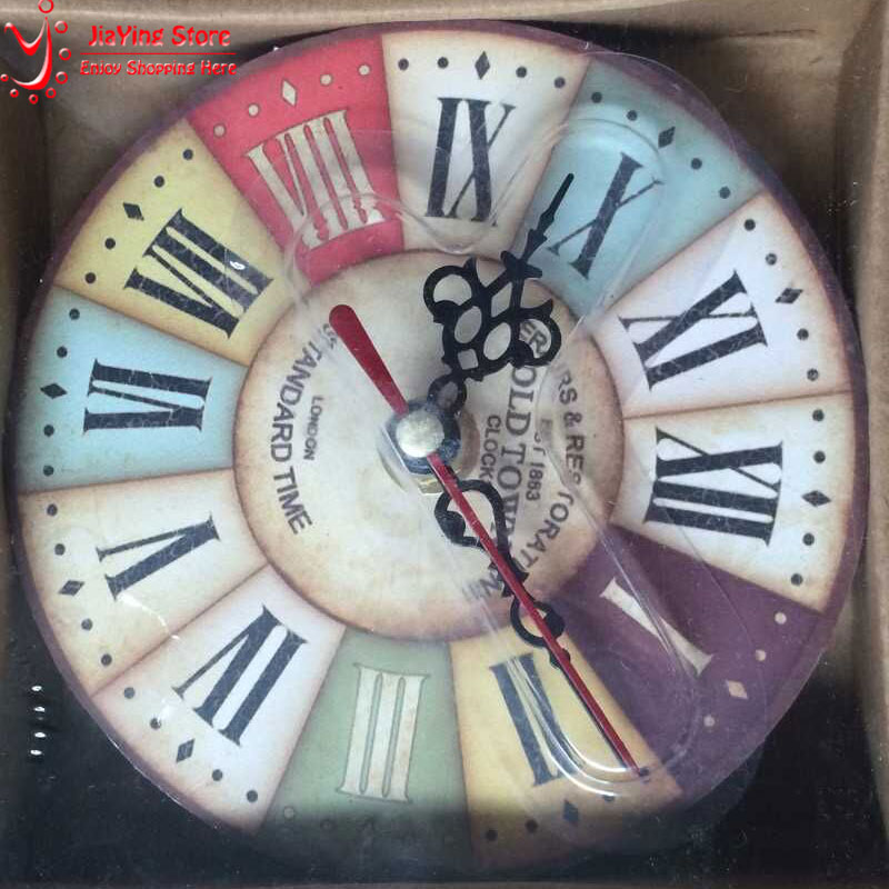 Aliexpresscom Buy Antique Vintage Wood Wall Clock Roman
