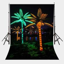 150x220cm Colorful Light Decoration Backdrop Empty Street City Night View Photography Background