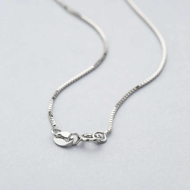 Romantic 0.7 MM Box Chain Solid 925 Sterling Silver Necklace 16 & 18 Inches Three Colors