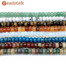 Wholesale Natural Stone Bead 5x8 mm Rondell Bead, Jade Crystal Jasper Opal Onyx Carnelian Quartz Unakite 20 Kinds You Pick