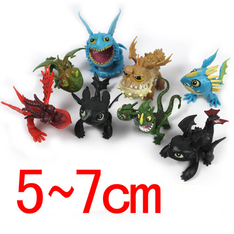 8pcs/set How to Train Your Dragon 2 Action Figure Toys Night Fury Toothless Gronckle Deadly Nadder Dragon Ball Z Figures for Boy мини фигурка dragons toothless 66562 20064923