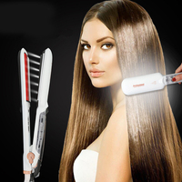 2018 Tourmaline Ceramic Dual Plate Steam Infrared Hair Care Styling Tools Anion Fast Hair Straightener MCH