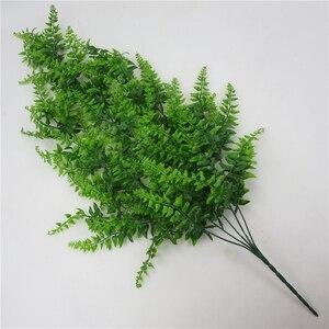 Image 4 - Yapay yapraklar plastik bitki asma duvar asılı bahçe oturma odası kulübü Bar dekore sahte yapraklar yeşil bitki sarmaşık P0.11