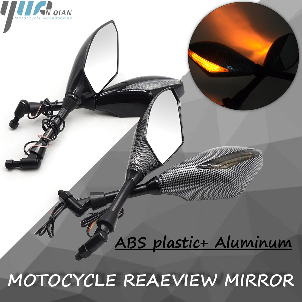 Motorcycle Indicator Rearview Side Mirrors & Integrated LED Turn Signals FOR KTM DUKE200 390 690 Motorcycle Street bikes Cruiser-in Side Mirrors & Accessories from Automobiles & Motorcycles