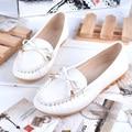 2016 Новый Кожа PU Женщины Квартиры Мокасины Дикий Вождения Женщины Повседневная Обувь Досуг Краткие Плоские Туфли Бантом Беременных Мать Обувь