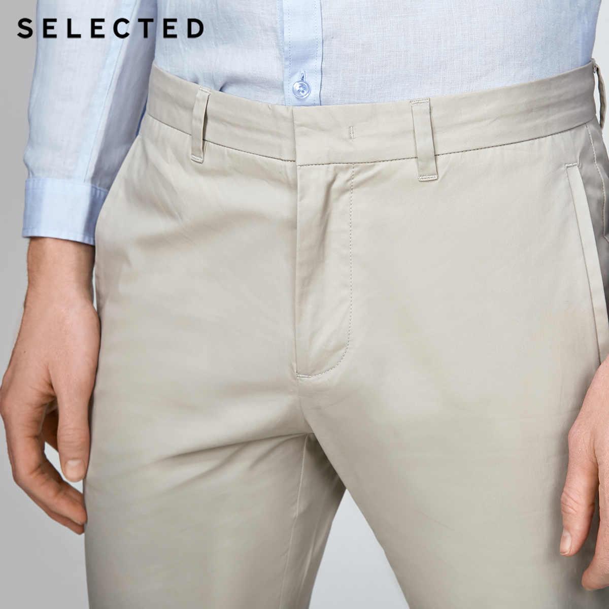 נבחר כותנה עסקי פנאי ישר-רגל ארוך מכנסיים S | 4182W2511