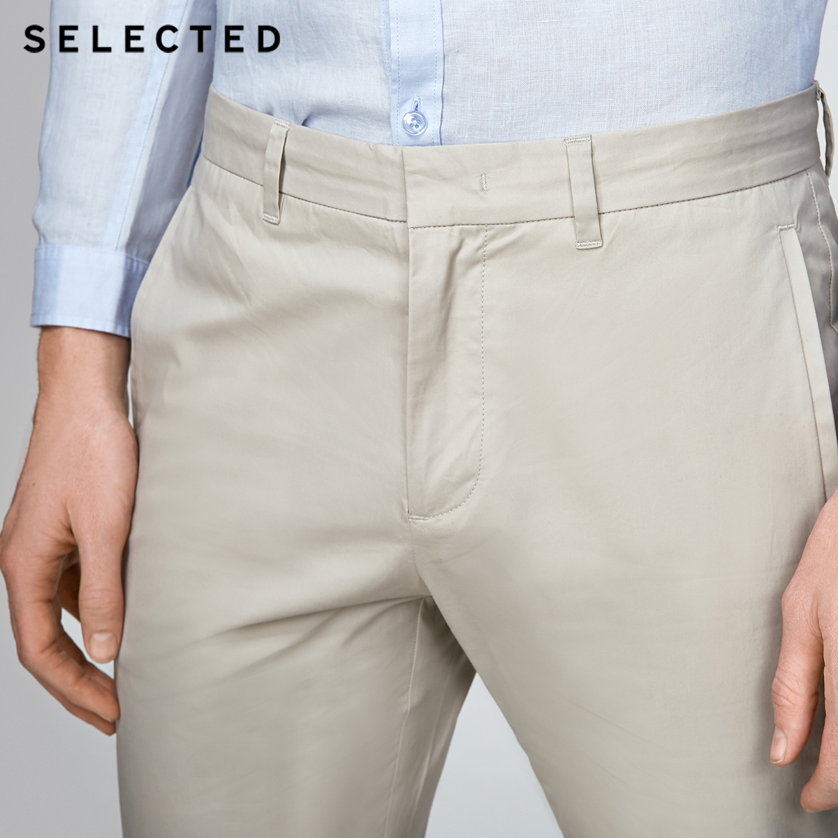 Image 4 - SELECTED  cotton business leisure straight leg long pants S4182W2511-in Casual Pants from Men's Clothing