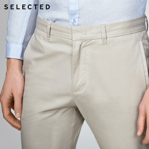 Image 4 - SELECTED  cotton business leisure straight leg long pants S