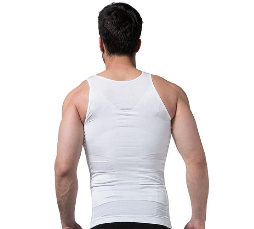 2019 Men Slimming Body Shaper Tummy Shaper Vest Slimming Underwear Corset Waist Waist Cincher Men Bodysuit 2