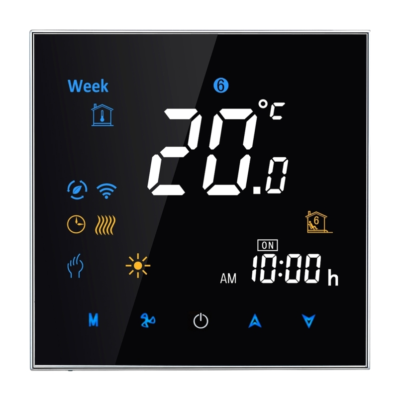 95-240V 16A Thermostat Smart Controller Heating Type LCD Digital Heating Room Sensor Temperature Humidity Heat Time Display dunlop winter maxx wm01 205 65 r15 t