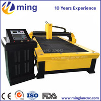 1212 1325 1530 mini cnc with Chinese Huayuan LGK 60 200A / plasma cutter for sale