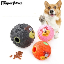 Pet Food Feeders Ball Cat Interactive Toy Tumbler Egg Smarter Dog Playing Toys Treat Shaking for Dogs Increases IQ MDT04