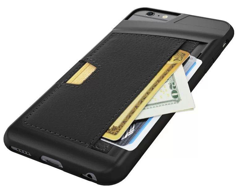 low priced 2a3e7 b1e57 US $3.15 |Luxury leather Back cover Case For Apple iPhone 6 6 Plus Case  Card Pocket Slot Holder Wallet Cover Shell Phone Bag on Aliexpress.com | ...