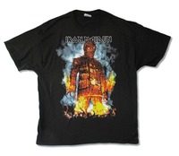 Tops Tee Shirts Gildan Fashion 2017 Iron Maiden Wicker Man 2010 Na Tour O Neck Short