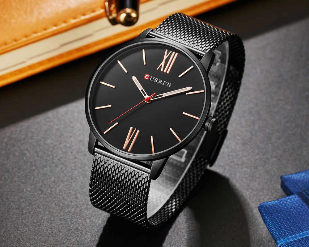 2018 CURREN Для мужчин s часы лучший бренд роскошные золотые кварцевые часы Для мужчин модные Водонепроницаемый Нержавеющаясталь Спорт часы мужские наручные часы