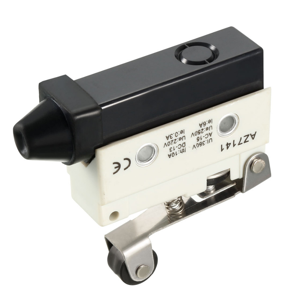 Uxcell SPDT Switch Panel Hinge Roller Lever Plunger Type Momentary Micro Limit Switch Electrical Equipment Supplies 1PCS